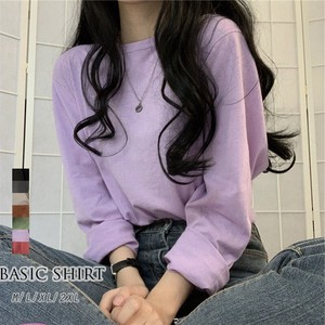 A/W Adult Basic T-shirt Round Neck Everyday Commuting Going To School