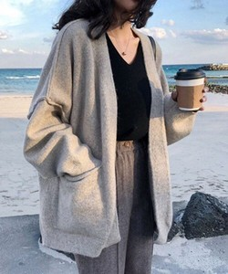 [ 2020NewItem ] Big Silhouette Knitted Robe