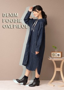 Denim Food One‐piece dress.