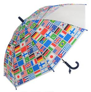 CAFE DIMLY カフェディムリー 子どもが喜ぶキッズビニール傘 【国旗】子ども傘 50cm