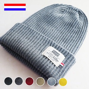 A/W Tricolor Hats & Cap Knitted Cap Ladies Waffle Knitted Cap Patch Acrylic