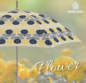 Flower Scandinavian Style Unisex Stick Umbrella