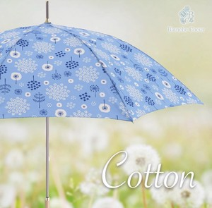 Cotton Scandinavian Style Unisex Stick Umbrella