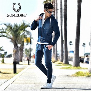 Cut Denim Hoody