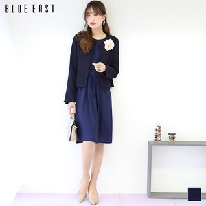 Tweed Non-colored Jacket Chiffon One-piece Dress