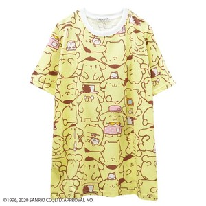 "[ 2020NewItem ] ""POM POM PURIN"" Repeating Pattern T-shirt"
