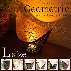 Geometric Patterns Watermark Sharpen Candle Holder Size L