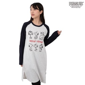 Snoopy Jersey Stretch Long T-shirt