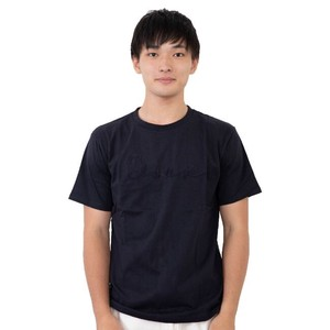 Jersey Stretch Embroidery Short Sleeve T-shirt