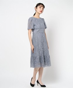 Embroidery Repeating Pattern Lace Ladder Lace Switching One-piece Dress Dress