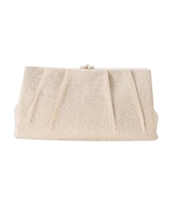 Jacquard Weaving Tuck Party Clutch Bag