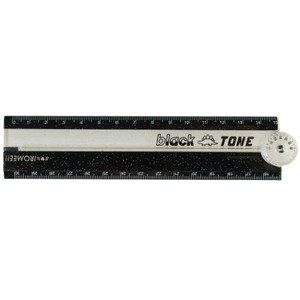 Protractor Attached 30cm Folded Ruler BLACK