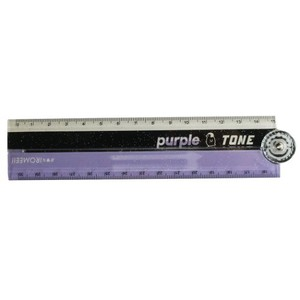 Protractor Attached 30cm Folded Ruler PURPLE