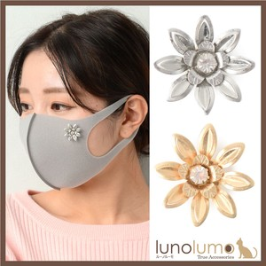 Mask Mask Accessory Mask Pierced Earring Ladies Flower Flower Gold Silver