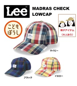 LE KIDS LOW CAP MADRAS CHECK<キッズ>