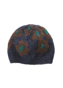 A/W Hand Knitting Floral Pattern Card Knitted Cap
