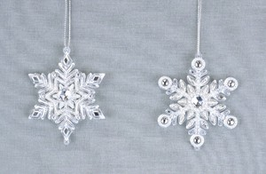 Acrylic Snow Lake Ornament 2 type Assort