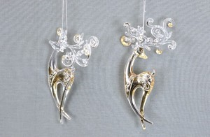 Reindeer Ornament 2 type Assort
