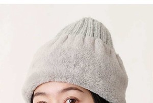 """2020 New Item"" Fake Fur Switch Knitted Hat"