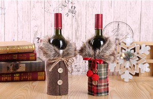Christmas Decoration Wine Set Matsuri Decoration Tool Ribbon Wine Bottle Cover