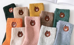Embroidery Cashmere Stocking