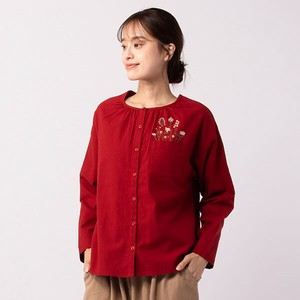 peniphass Pocket Embroidery Blouse
