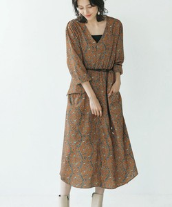 Belt Waist Mark One-piece Dress