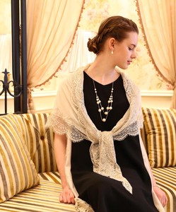 Lace Triangle Chiffon Shawl