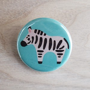 Button Badges Zebra