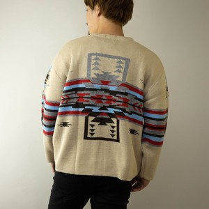 Cardigan Men's Button Native Knitted Middle Knitted Cardigan