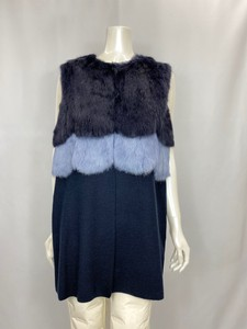 Fur Attached Knitted Vest