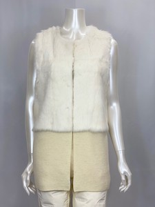 Popular Fur Attached Knitted Vest