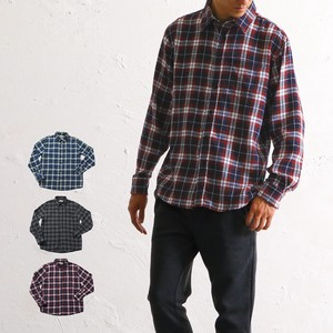 Shirt Men's Checkered Long Sleeve Heat Retention