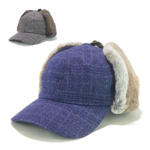 Ruben Checkered Fur Flap Cap Young Hats & Cap