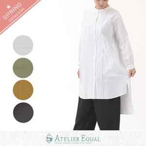Cotton Typewriter Band Color Tunic