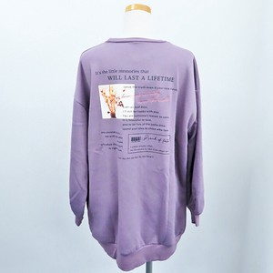 A/W Raised Back Big Pullover Flower Photo