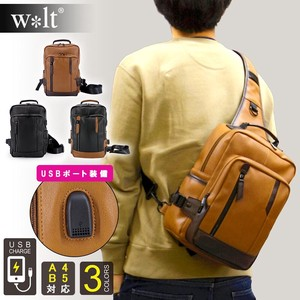 Walt USB Attached Hook Middle Body Bag