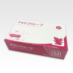 送料無料 PVCグローブ(M) パウダーフリー プラスチック手袋 PVC手袋 粉なし