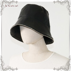 Artificial Leather Gloss Synthetic Leather Material Hats & Cap Diamond Hats & Cap Lady