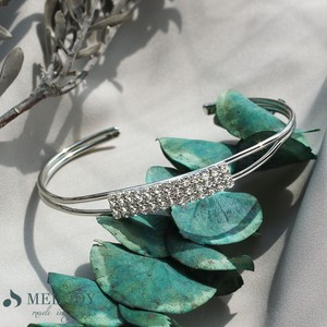 Made in Japan made Bracelet Stone Triple Bangle Line