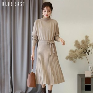 Pleats Knitted One-piece Dress