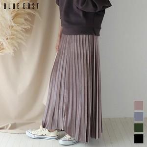 【2020新作】ベロアロングプリーツスカート