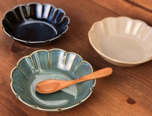 Vintage グリーン小鉢 13cm【日本製 取皿 リンカ 取り鉢 和食器 陶器 織部】ヤマ吾陶器