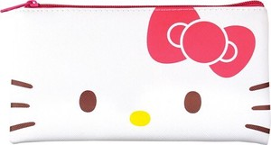 Tease Sanrio Flat Pen Pouch Hello Kitty Face