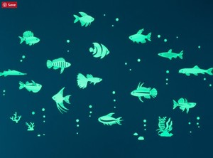 Luminance Sticker Tropical Fish