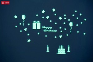 Luminance Sticker Happy Birthday