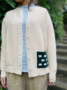 Dot Patch Pocket Cardigan