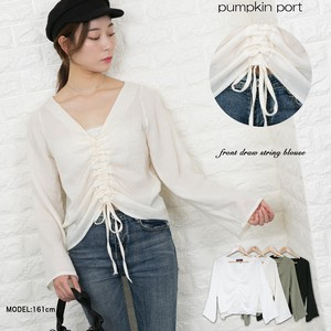 Korea Plain Front Ring Blouse