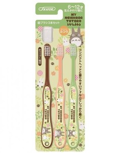 3P Attached Cap Toothbrush Student My Neighbor Totoro Plants
