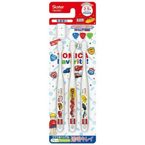 Clear Child Toothbrush 3P Kindergarten Tomica